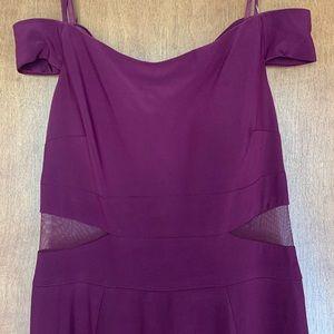 Xscape Off-the-shoulder Plum Dress